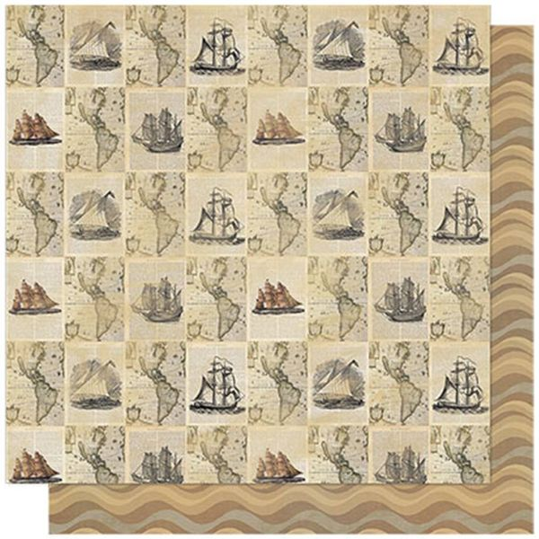 Papel-Scrapbook-Litoarte-SD-591-305x305cm-Jornal-Nautical