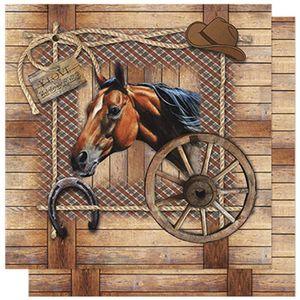 Papel-Scrapbook-Litoarte-SD-594-305x305cm-Cavalo-com-Ripado-Marrom