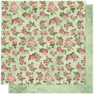 Papel-Scrapbook-Litoarte-SD-597-305x305cm-Estampas-Rosas-com-Jornal-Floral