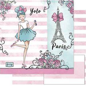 Papel-Scrapbook-Litoarte-SD-751-305x305cm-Menina-Paris-Aquarela