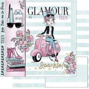 Papel-Scrapbook-Litoarte-SD-752-305x305cm-Menina-Vespa-Aquarelada