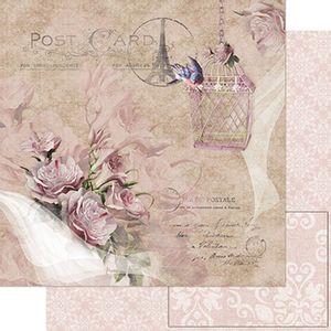 Papel-Scrapbook-Litoarte-SD-753-305x305cm-Flores-Rosa-Vintage