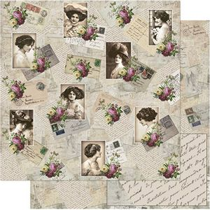 Papel-Scrapbook-Litoarte-SD-755-305x305cm-Fotos-com-Flores-Vintage