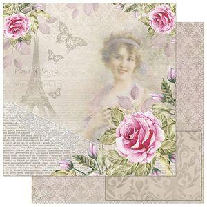 Papel-Scrapbook-Litoarte-SD-757-305x305cm-Damas-com-Rosas-Vintage