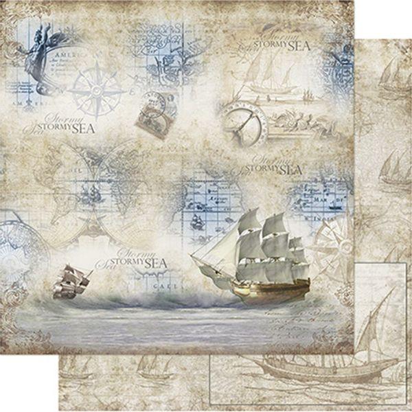 Papel-Scrapbook-Litoarte-SD-760-305x305cm-Navio-Vintage