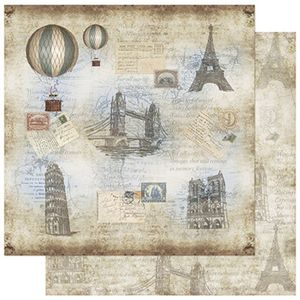 Papel-Scrapbook-Litoarte-SD-761-305x305cm-Balao-Paris-Vintage