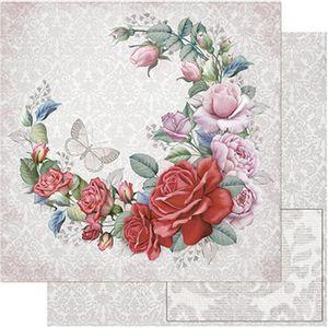 Papel-Scrapbook-Litoarte-SD-762-305x305cm-Guirlanda-de-Rosas