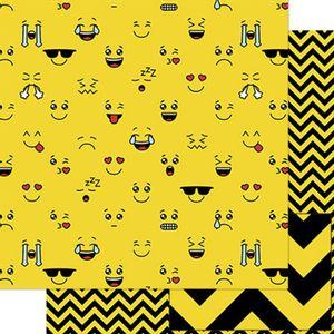 Papel-Scrapbook-Litoarte-SD-764-305x305cm-Carinhas-Amarelas