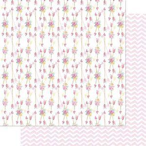 Papel-Scrapbook-Litoarte-SD-740-305x305cm-Mini-Flores-e-Flechas