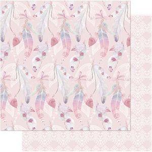 Papel-Scrapbook-Litoarte-SD-743-305x305cm-Penas-Cor-de-Rosa-e-Branca
