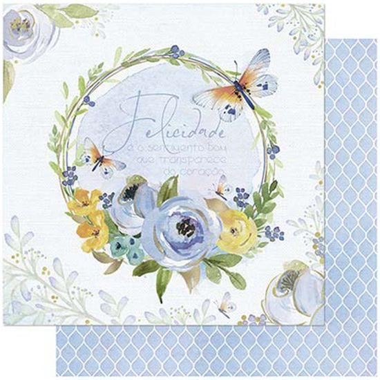 Papel-Scrapbook-Litoarte-SD-744-305x305cm-Guirlanda-Floral-Azul