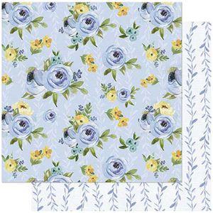 Papel-Scrapbook-Litoarte-SD-745-305x305cm-Floral-Azul