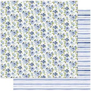 Papel-Scrapbook-Litoarte-SD-746-305x305cm-Florzinhas-Azuis