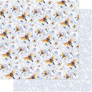 Papel-Scrapbook-Litoarte-SD-747-305x305cm-Borboletas-Azuis