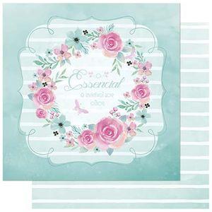 Papel-Scrapbook-Litoarte-SD-748-305x305cm-Guirlanda-Flores-Aquarelada
