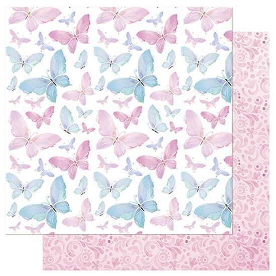 Papel-Scrapbook-Litoarte-SD-750-305x305cm-Borboletas-Aquareladas