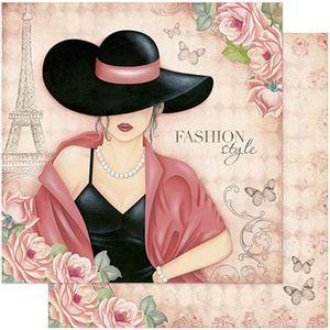 Papel-Scrapbook-Litoarte-SD-770-305x305cm-Dama-e-Rosas