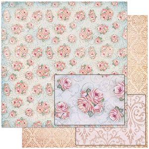 Papel-Scrapbook-Litoarte-SD-773-305x305cm-Padrao-de-Rosas-Fundo-Azul