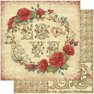 Papel-Scrapbook-Litoarte-SD-774-305x305cm-Rosas-Vermelhas-e-Love