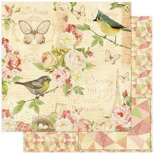 Papel-Scrapbook-Litoarte-SD-777-305x305cm-Passaros-e-Flores