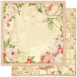 Papel-Scrapbook-Litoarte-SD-776-305x305cm-Flores-e-Borboleta-Vintage