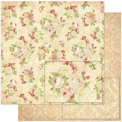 Papel-Scrapbook-Litoarte-SD-778-305x305cm-Padrao-Flores-Vintage
