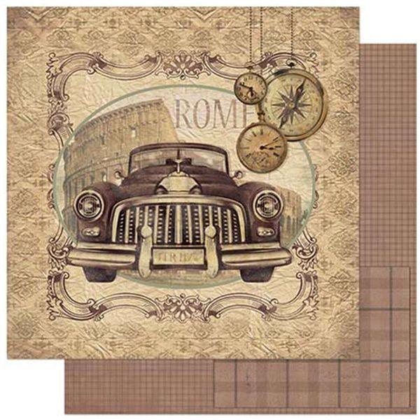 Papel-Scrapbook-Litoarte-SD-780-305x305cm-Carro-Antigo-Vintage-Roma