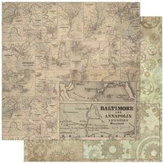 Papel-Scrapbook-Litoarte-SD-783-305x305cm-Estampa-Mapa-Vintage