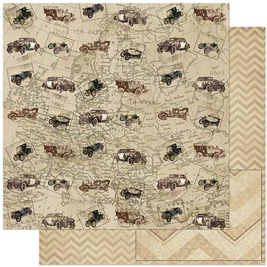 Papel-Scrapbook-Litoarte-SD-785-305x305cm-Carros-Antigos-Vintage