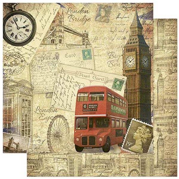 Papel-Scrapbook-Litoarte-SD-791-305x305cm-Londres-Inglaterra-Vintage