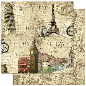 Papel-Scrapbook-Litoarte-SD-797-305x305cm-Paris-Pisa-Londres-e-Italia