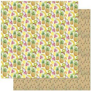 Papel-Scrapbook-Litoarte-305x305cm-SD-806-Tropical-de-Frutas