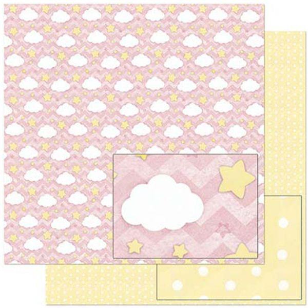 Papel-Scrapbook-Litoarte-305x305cm-SD-811-Padrao-Nuvens-e-Estrelas