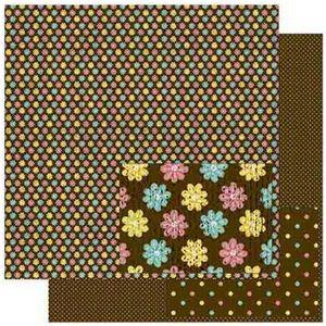 Papel-Scrapbook-Litoarte-305x305cm-SD-825-Florzinhas-Coloridas
