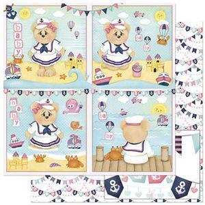 Papel-Scrapbook-Litoarte-305x305cm-SD-826-Ursinha-Marinheira-Bebe