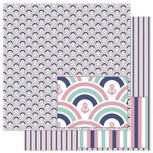 Papel-Scrapbook-Litoarte-305x305cm-SD-827-Padrao-de-Ondas-Rosas-e-Azuis
