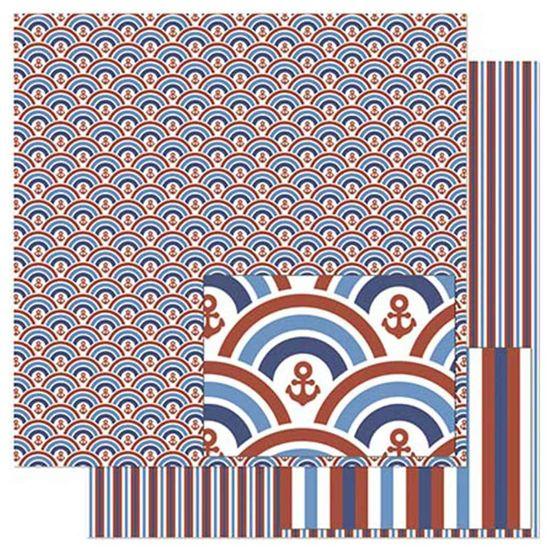 Papel-Scrapbook-Litoarte-305x305cm-SD-830-Padrao-de-Ondas-Vermelhas-e-Azul