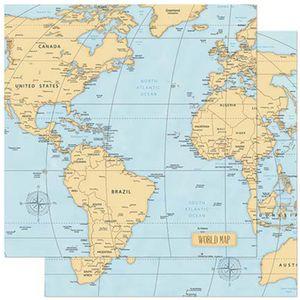 Papel-Scrapbook-Litoarte-305x305cm-SD-839-Mapa-Mundi