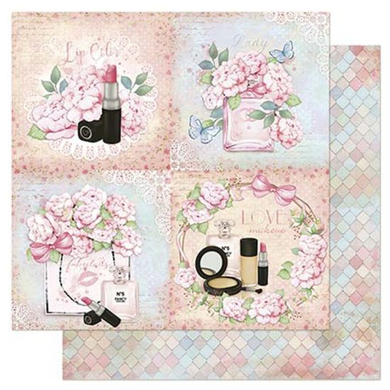 Papel-Scrapbook-Litoarte-305x305cm-SD-849-Quadros-de-Maquiagem-e-Flores