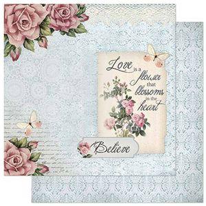 Papel-Scrapbook-Litoarte-305x305cm-SD-855-Rosas-e-Borboletas