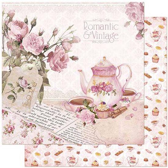 Papel-Scrapbook-Litoarte-305x305cm-SD-859-Bule-e-Xicaras