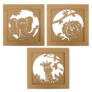 Trio-de-Quadros-Decorativo-em-MDF-Safari-30x30cm---Palacio-da-Arte