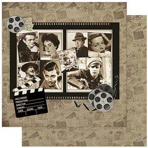 Papel-Scrapbook-Litoarte-305x305cm-SD-873-Estrelas-de-Cinema