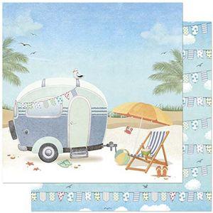 Papel-Scrapbook-Litoarte-305x305cm-SD-880-Praia-e-Trailer