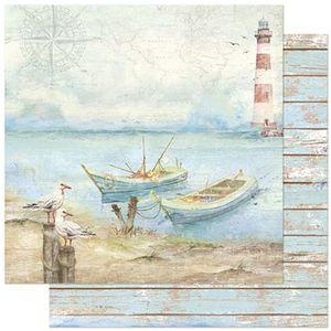 Papel-Scrapbook-Litoarte-305x305cm-SD-885-Naval-Gaivotas-e-Barcos
