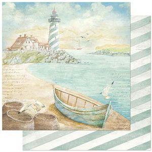 Papel-Scrapbook-Litoarte-305x305cm-SD-886-Naval-Farol-e-Canoa