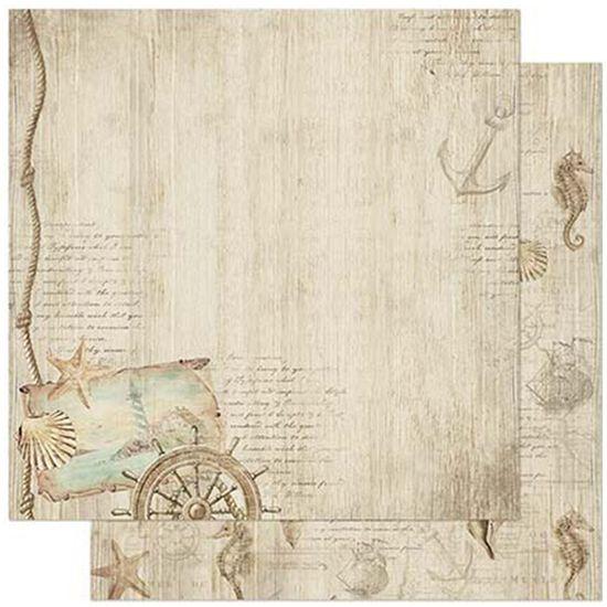 Papel-Scrapbook-Litoarte-305x305cm-SD-888-Padrao-Naval-Conchinhas