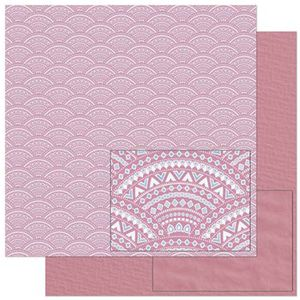 Papel-Scrapbook-Litoarte-305x305cm-SD-892-Padrao-Tribal-Rosa