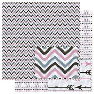 Papel-Scrapbook-Litoarte-305x305cm-SD-894-Chevron-Rosa-e-Cinza