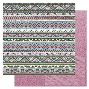 Papel-Scrapbook-Litoarte-305x305cm-SD-896-Padrao-Barrado-Tribal-Rosa-e-Cinza